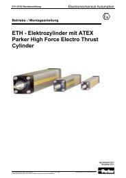 ETH ATEX Betriebsanleitung - Parker