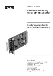 Installationsanleitung Serien ED104/ET104 - Parker