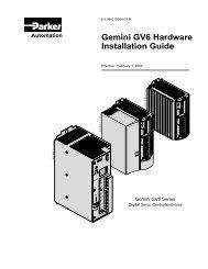 Gemini GV6 Hardware Installation Guide - Motion Control Systems