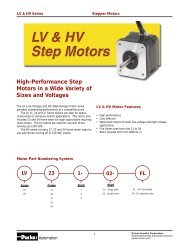 High-Performance Step Motors in a Wide Variety of Sizes and ...