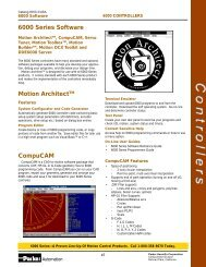 6000 Series Software Motion ArchitectTM CompuCAM - Compumotor