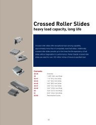 Crossed Roller Slides - MotionUSA