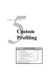 Ch. 5: Custom Profiling