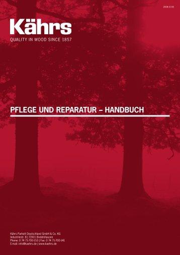 Pflege und Reparatur – Handbuch (PDF) - Kährs