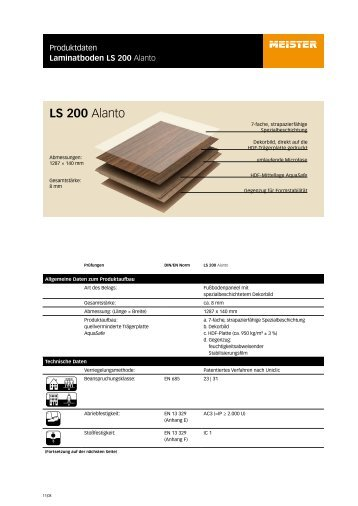 LS 200 Alanto - Parkett-Store24
