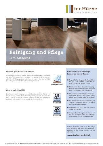 Laminat Reinigung und Pflege DE 1102 - ter Hürne