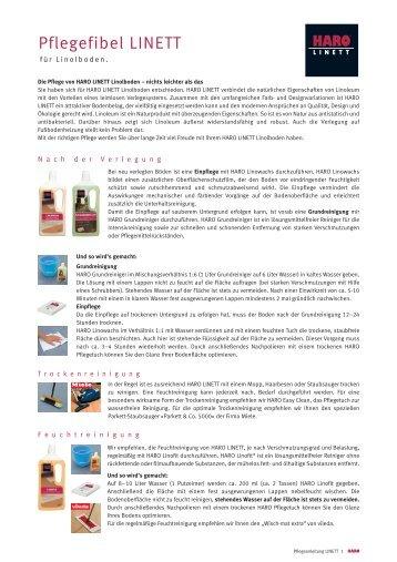 Pflegefibel LINETT - Parkett-Store24