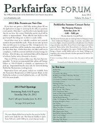 June 2012 Newsletter - Parkfairfax