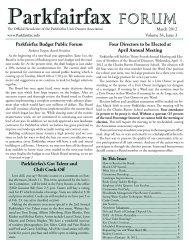 March 2012 Newsletter - Parkfairfax