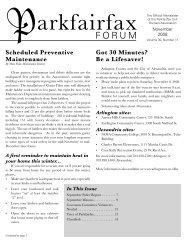 11-2008 Newsletter - Parkfairfax