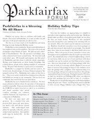 12-2005 Newsletter - Parkfairfax
