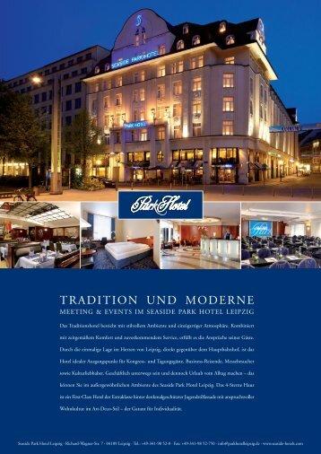 Tagungsflyer - Park Hotel Leipzig