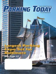 Largest Parking Expo Set for Baltimore - Parking Today