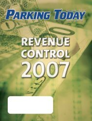 January, 2007, pages 1-16 - Parking Today