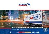 M.KO Kofferaufbauten für die Verteilerlogistik