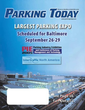 September 2005, pages 1-16 - Parking Today