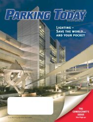 Lighting – Save the world... and your pocket - Parking Today