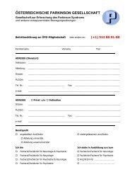 Antragsformular auf ordentliche Mitgliedschaft - Österreichische ...