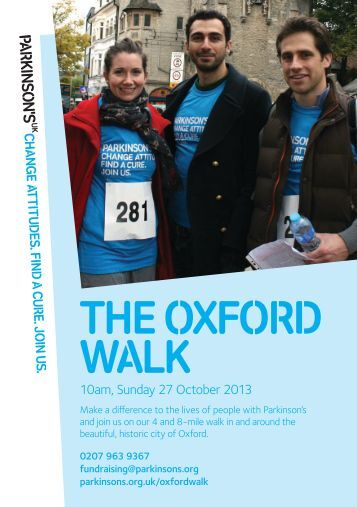 Oxford Walk booking form (PDF, 840KB) - Parkinson's UK