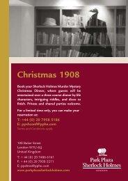 Christmas 1908 - Park Plaza Sherlock Holmes