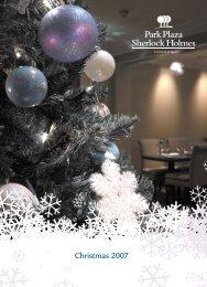 PPSH Christmas Brochure 07 - 8106 v5 - Park Plaza Sherlock Holmes
