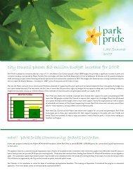 city council passes $2-million budget increase for 2008 ... - Park Pride