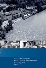 Geschäftsbericht 2006 - Parkresort Rheinfelden
