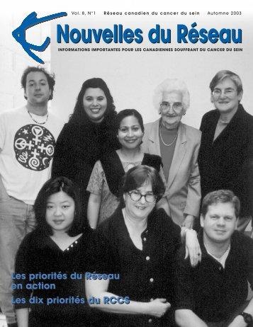 Nouvelles du Réseau - Canadian Breast Cancer Network