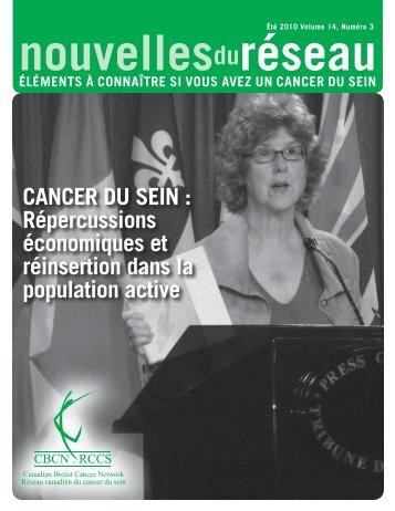 Été 2010 (PDF 1.35 Mb) - Canadian Breast Cancer Network