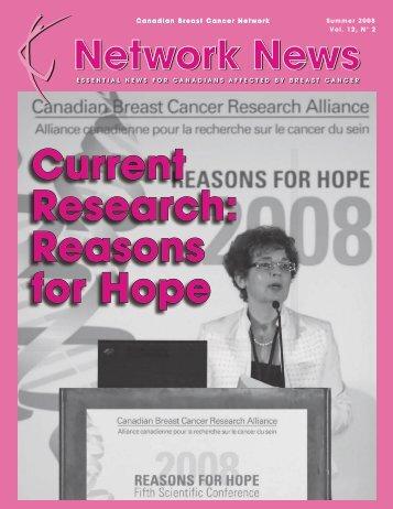 Network News - Summer 2008 (PDF 1.4Mb) - Canadian Breast ...