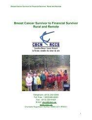 Breast Cancer Survivor to Financial Survivor Rural and Remote