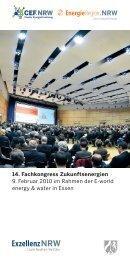 14. Fachkongress Zukunftsenergien - EnergieRegion.NRW