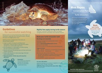 Mon Repos Conservation Park Turtle watching guide