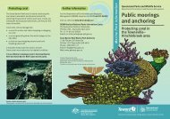 Public moorings and anchoring: protecting coral in the Townsville ...