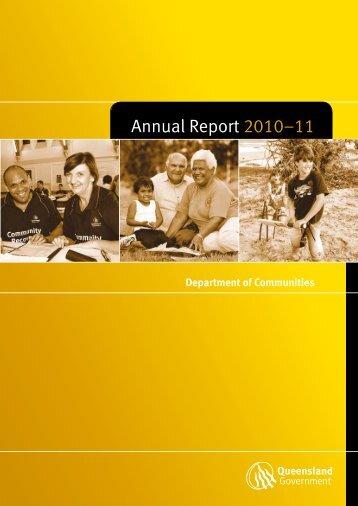 Annual Report 2010-11 Department of Communities