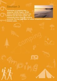 Section 3: summaries of camping data (PDF, 525K)