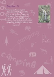 Section 3: summaries of camping data (PDF, 551K)