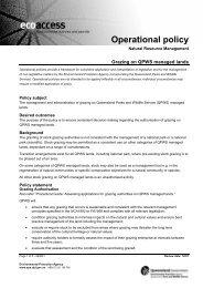 Grazing on QPWS managed lands (PDF, 120K) - Queensland ...