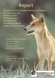 Evaluation of Dingo Education Strategy and Programs for Fraser ...