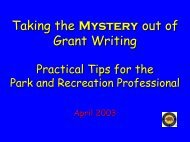 Grant Writing Made Easy: for the Park and Recreation Professional