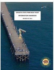 Boat Hoist Program Information Handbook - California State Parks