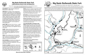 Big Basin Redwoods State Park Campground Map - California State ...