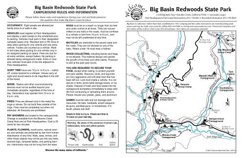 Big Basin Redwoods State Park Campground Map - California ... on california waterfalls map, california state highway 15, california ski areas map, california central coast cities map, california national parks map, california state regions map, california state hunting zone map, san simeon state park campground map, los angeles metro rail system map, california beach campgrounds map, california snorkeling map, camping in colorado map, yosemite national park map, california state lands map, big basin redwoods state park trail map, california central coast beach map, california nature map, california legoland water park map, california state physical map, california average climate map,