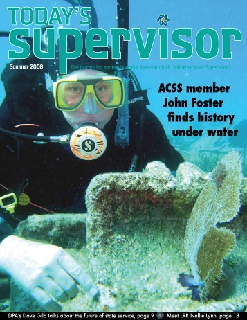 Today's Supervisor 2008 Magazine Featured Article on John Foster