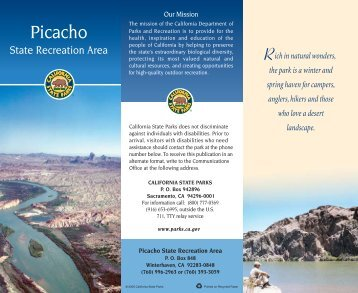 Picacho brochure - California State Parks