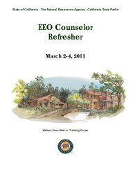 EEO Counselor Refresher March 2-4, 2011 - California State Parks ...
