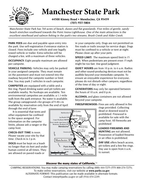 Campground Map California State Parks
