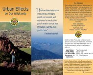 Urban Effects on our Wildlands - California State Parks