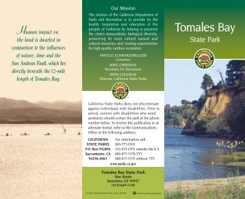 TOMALES LAYOUT PD - California State Parks