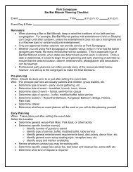 Bar-Bat Mitzvah Planning Checklist - the Park Synagogue